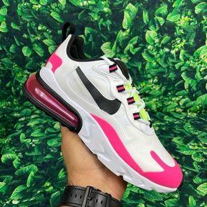 Nike Air Max React 270 White Black Hyper Pink